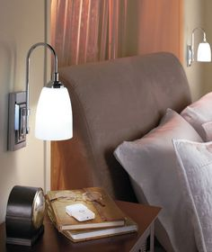 Over The Bed Lamp Classic Wall Sconce with Remote. Battery Operated Lamps, Ltd Commodities, Family Room Design, Comfort Zone, Light Decorations, Wall Sconces, Accent Decor, Bed Pillows, Decorative Lighting