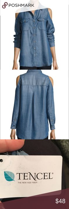 Brand new Demi blouse !(Tencel fabric) This shirt is made of Tencel fabric. It's a natural fabric. Super chic and brand new. Light weigh and comfy! Tops Blouses