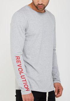 0321ae53fa7 Resolution Revolution Print Top - Grey