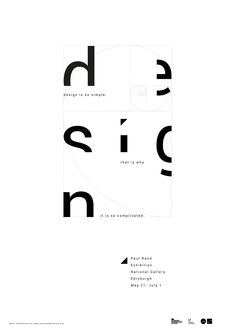 Poster design for Paul Rand exhibition on Behance Minimal Graphic Design, Sports Graphic Design, Graphic Design Posters, Graphic Design Typography, Minimalist Poster Design, Typo Poster, Typographic Poster, Poster Layout, Typographic Design