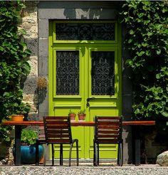 chartreuse doors
