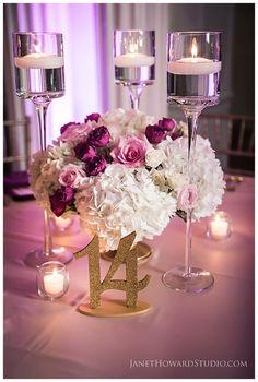 Reception low centerpiece  | Pink and Gold Wedding |  | Biltmore Ballrooms Wedding | Atlanta Wedding | Photo by Janet Howard Studio | Lemiga Events | Atlanta Wedding Planning and Design