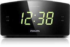 Philips AJ3400 Radio Réveil: Grand écran pour une visualisation facile avec luminosité réglable Type de batterie : AAA (non inclus) Double…