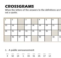 FREE - Number and Word Puzzles