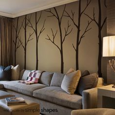 Wall Decals Living Room Tree Sticker Set Large Decal