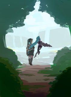 Legend of Zelda Skyward Sword art > Link and Fi Skyward Sword Link, Zelda Skyward, Link Zelda, Master Sword, Twilight Princess, Princess Zelda, In Another Life, Fire Emblem Awakening, Fullmetal Alchemist Brotherhood