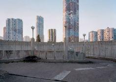 Emile Aillaud's Les Tours Aillaud, Cité Pablo Picasso, Nanterre, 1977. Photograph from 2014