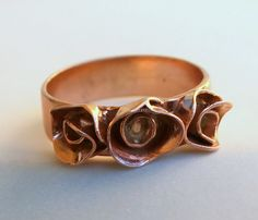 Pink Rose Gold Ring.