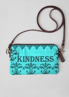 VIDA Leather Statement Clutch - Kay Duncan BlueBlue Fleur by VIDA GAWRIe3n