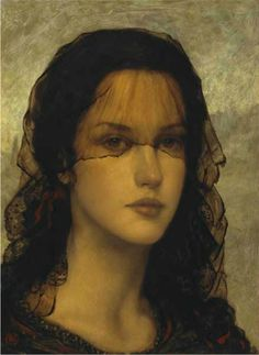 Ken Hamilton - The veil or The spanish girl - Pittore contemporaneo Spanish Eyes, Spanish Girls, Female Portrait, Portrait Art, Hamilton Painting, Irish Painters, The Painted Veil, Art Drawings, Madonna
