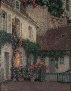 Le Sidaner, Henri Eugène; The House of Gerberoy: Evening, c. 1930