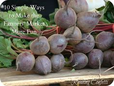 10 ways to make the farmer's market even more fun and educational