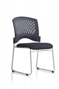 Monaco Sled Base Padded Seat Stacking Chair (4 PK) SKU: V5000SF Molded contoured black plastic seat, Contoured black plastic perforated back, Convenient ganging device glides, Silver powder coated frame finish, Non-marring floor glides, Available 4-wheel storage dolly (Model 8050) Notes: Packed four (4) per carton, sold in sets of four. Product price above is per chair. Availability: 1 Color(s) Available Pricing: $303.99