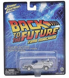 Johnny Lightning 1:64 Scale Back to the Future Time Machine Die-Cast Car @ niftywarehouse.com #NiftyWarehouse #BackToTheFuture #Movie #Film #Movies #Gifts