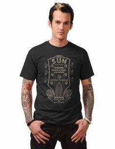 Sun Records Guitar Head tshirt