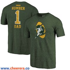 Green Bay Packers NFL Pro Line by Fanatics Branded Green Greatest Dad Retro  Tri-Blend 974987a6752