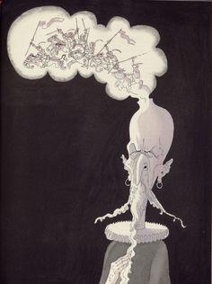 Albert Dubout Don Quixote imagines errant knights L'Ingénieux Hidalgo Don Quichotte de la Manche (1951-Paris-Valois)