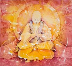 Roshi Otto    This painting is in honor of my beloved friend, Otto, who lives his life in service to others.  I bow to you and honor you.    Evokes: Peace and Humility