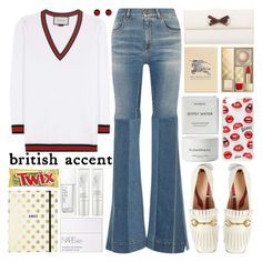 """""""Fall British accent"""" by barbarela11 on Polyvore featuring Roberto Cavalli, Gucci, Sonix, Byredo, NARS Cosmetics, Burberry, Kate Spade and Kevin Jewelers"""