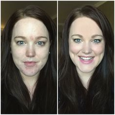 "All Younique products! Check out the coverage! She's wearing.. Glorious primer, BB cream complexion enhancer, touch cream foundation for red areas, touch powder foundation full face, blush(sweet), 3D mascara, She used the white liner on waterline & the liner ""prim"" for under eyes & filled her lips in with the ""posh"" lip pencil!"
