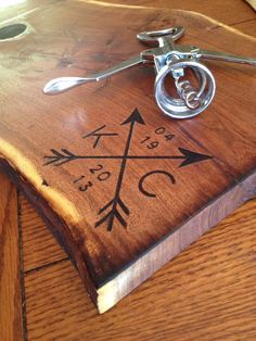 Wedding cutting board YOUR DESIGN custom woodburned by SaintlyWood