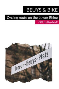 """Follow in the footsteps of the artist Joseph Beuys on the Lower Rhine and discover exciting places that tell about his life and work by bike on the """"Beuys & Bike"""" cycling route. One place on the route is Krefeld: This is where Joseph Beuys was born. #VisitNRW #germany #cycling #lowerrhine #cyclingtour #cyclingvacation #bike #holidays #outdoorexperiences #culture #culturtrip #beuysinkrefeld © Tourismus NRW e.V., Johannes Höhn Urban Words, North Rhine Westphalia, Listed Building, Street Signs, Day Trip, Cycling, Johannes, Tours, Bike"""