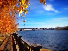 Bridge. Yenisei River. #Krasnoyarsk in Russia