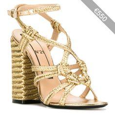 Nº21 braided detail sandals