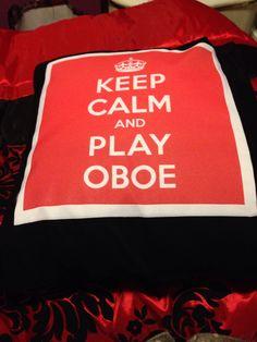 I got an oboe pillow for Christmas!!!
