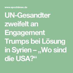 """UN-Gesandter zweifelt an Engagement Trumps bei Lösung in Syrien – """"Wo sind die USA?"""""""