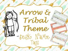 This file contains 8 different tribal/arrow themed desk tags and name plates for use in your classroom. Colors in this theme are coral, mint, navy, and gold.  There are 8 different designs included. I suggest printing on cardstock and laminating for durability.I'm just starting my TPT store, so please hit the FOLLOW ME button and check back for new products!I hope you enjoy this download and it helps make your classroom look extra special this year!