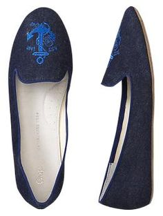 @Jennifer Skonnord Embroidered loafers | Gap