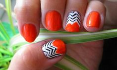 Orange Nail Design | Nail Move.com