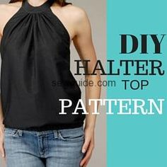 Sew an ultra glamorous halter neck top or gown after making this pattern with your own measurements ; This will also make a very summery tunic.
