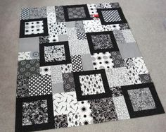 Black and white quilts | talked about my fondness for black and white quilts and gave a hint ...