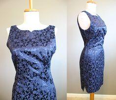 Brocade Dress Vintage Bodycon Sheath by InTheHammockVintage, $24.00