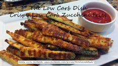 The Low Carb Dish - Crispy Zucchini fries Diabetic Side Dishes, Low Carb Side Dishes, Main Dishes, Low Carb Zucchini Fries, Low Carb Vegetables, Atkins Breakfast, Low Carb Breakfast, Atkins Recipes, Low Carb Recipes
