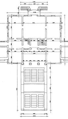 """Fig. 2. Measured survey of Villa Emo by Mario Zocconi and Andrzej Pereswiet Soltan. Rilievi delle Fabbriche de Andrea Palladio, vol. 1: La Villa Emo di Fanzolo (Vicenza: Centro Internazionale di Studi di Architettura """"Andrea Palladio"""", 1972) pl. XV."""