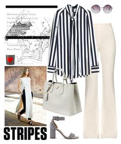 """""""Stripes ..."""" by carlina-tof ❤ liked on Polyvore featuring Giambattista Valli, Mulberry, J.Crew, Prada and Monki"""