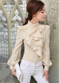 women's blouses, cheap blouses for women with wholesale price - Pepino Ladies Fashionista Cheap Blouses, Blouses For Women, Women's Blouses, Work Fashion, Fashion Outfits, Womens Fashion, Nude Shirt, Modele Hijab, Pretty Shirts