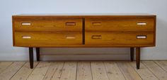 Low Rosewood double chest designed by Poul Hundevad in Denmark in the 1960's. Sits on solid rosewood legs. Maker's stamp on drawers and rear of cabinet. | eBay!