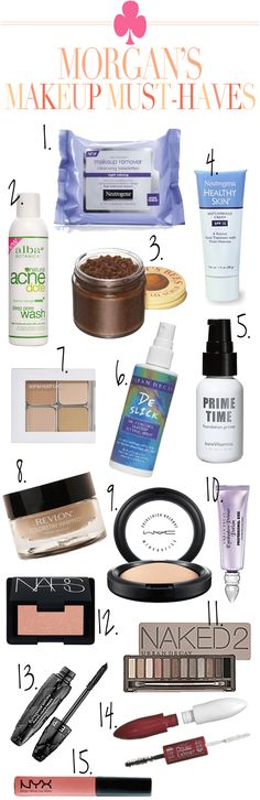 makeup must-haves - I agree with quite a few of these!