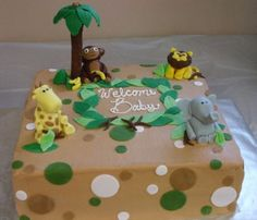 Jungle Themes Baby Shower By Jackofallcakes on CakeCentral.com
