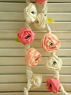 Inspiração para decorar o quarto, flores artesanais