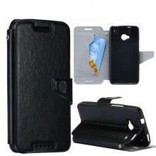 Capa HTC One - com Tampa Pele Preto  12,99 €