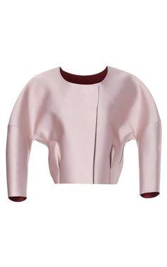 Laser Cut Double Sided Shell Jacket by Barbara Casasola for Preorder on Moda Operandi
