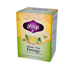 Yogi Energy Herbal Tea Green Tea - 16 Tea Bags - Case Of 6