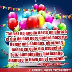 Imágenes con Frases para Felicitar a nuestro hermano en el dia de su cumpleaños  VER EN ░▒▓██► http://etiquetate.net/category/cumpleanos/imagenes-que-digan-feliz-cumpleanos-hermano/