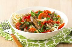 Quick Veggie & Beef Noodle Bowl Recipe