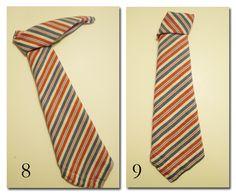 How to Fold a Napkin into a Necktie  